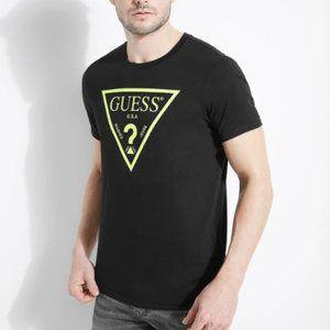 Guess Men's Basic Laser Cut Logo Crew T-shirt - M
